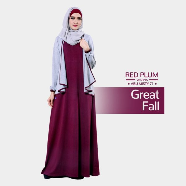 Gamis Mutif 152_Red Plum - Abu Misty 71