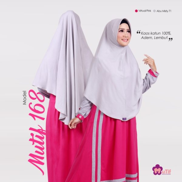 Gamis Mutif 168 Virtual Pink - Abu Misty 71