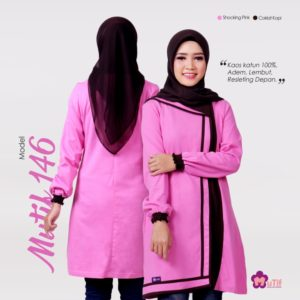 Tunik Mutif 146 Shocking Pink - Coklat Kopi (1)