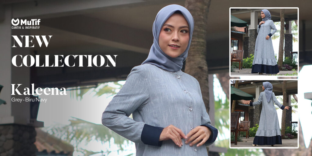 Kaleena - Grey Biru Navy